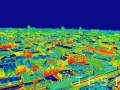 Infrared image panorama of Zagreb