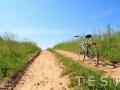 old bicycle on rural road